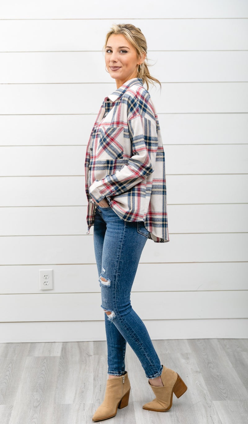 The Harley Flannel, Ivory