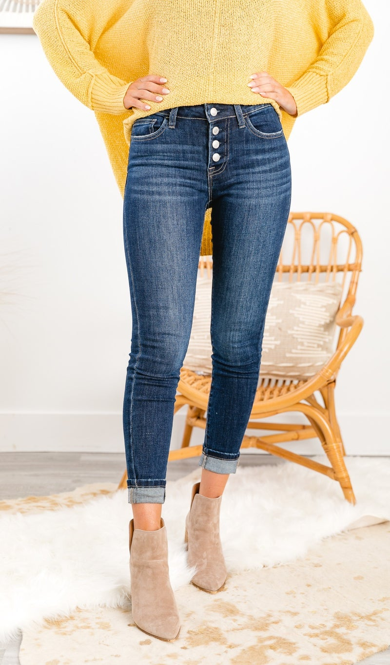 The Amber Mid Rise Skinny Jean