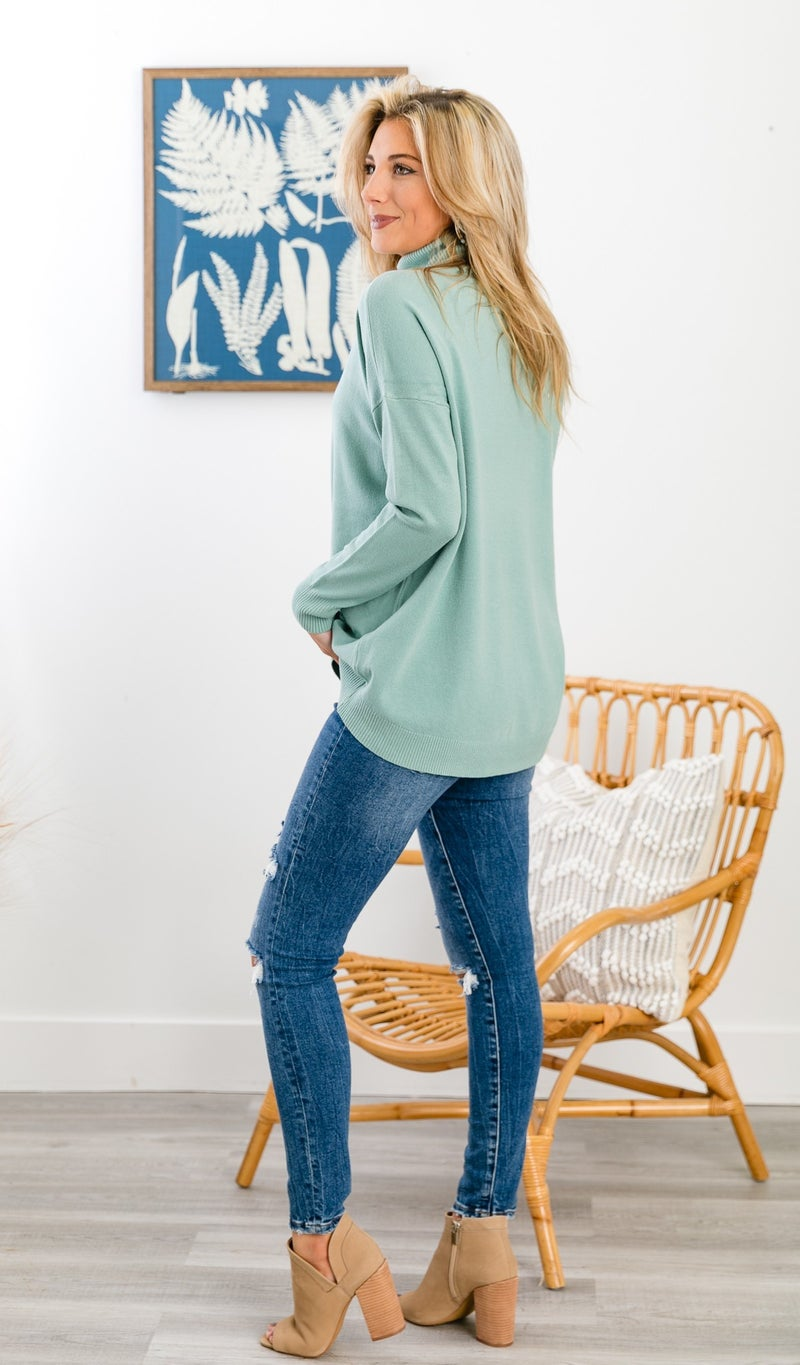 Cozy Days Sweater, Sage