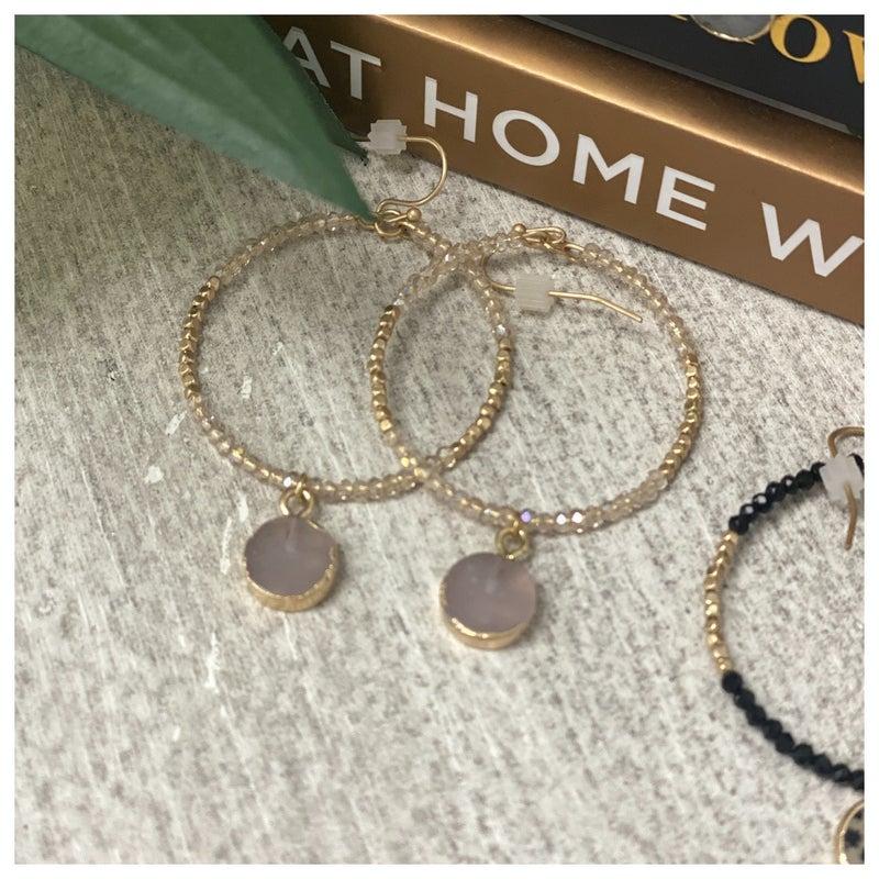 My Style Earring, Blush, Black or Grey