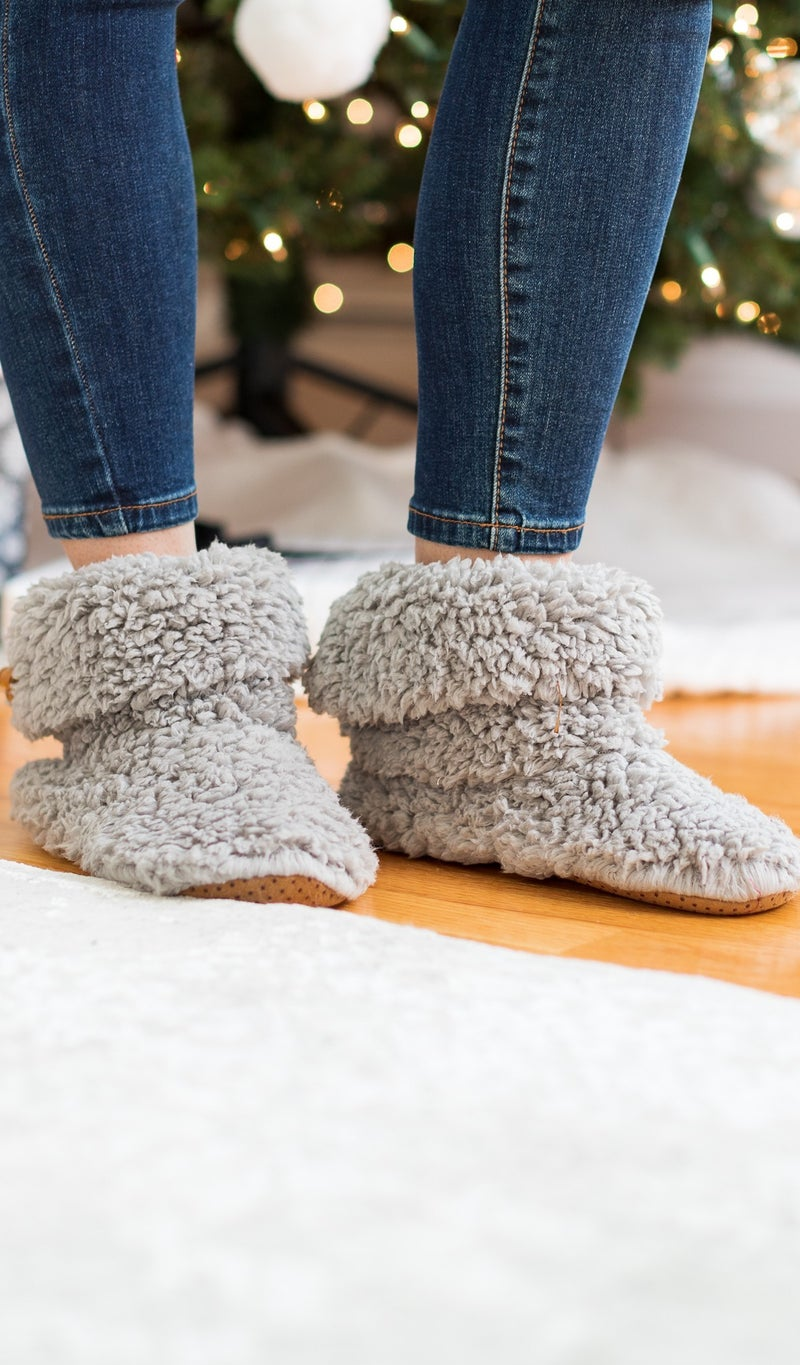 Stay In Warmth Slipper, Ivory or Grey