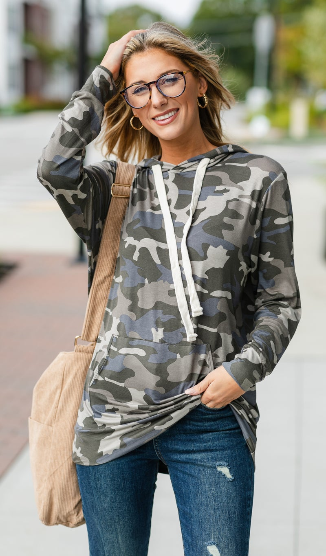 Street Chic Pullover, Camo