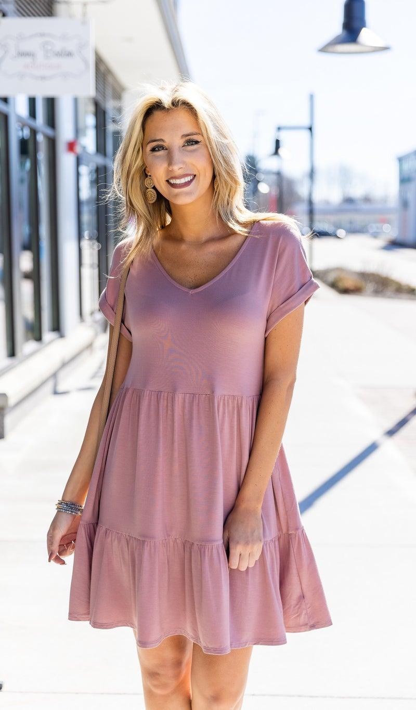 The Josie Dress, Mauve