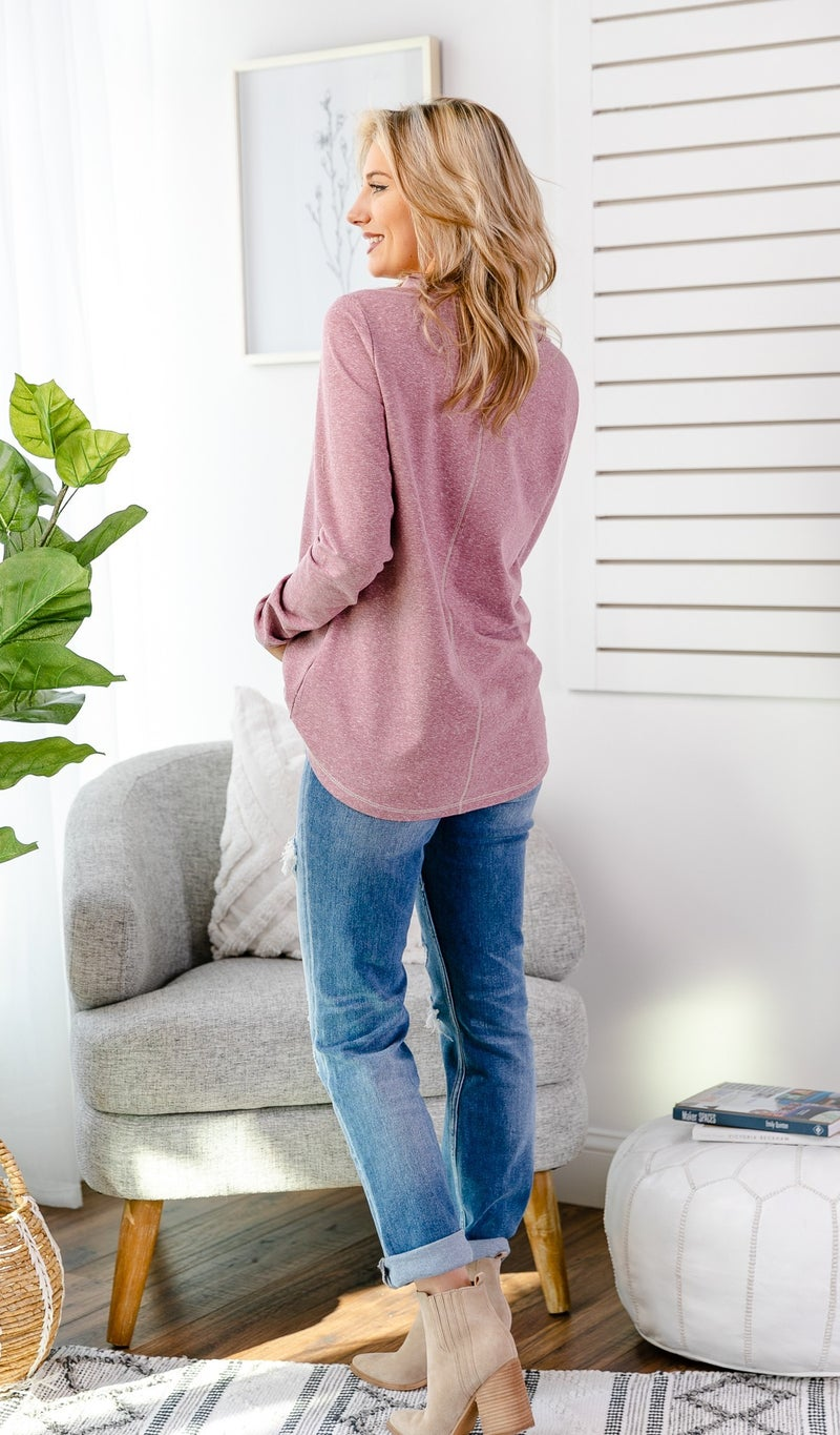 The Hailey Tunic, Mauve or Grey