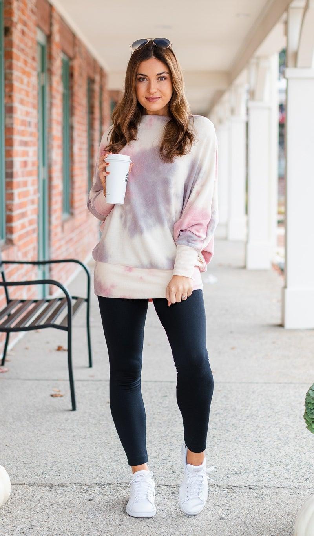 The Calla Top, Pink Tie Dye