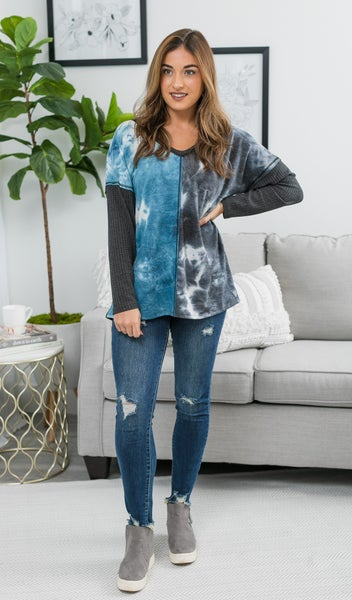 Midnight Dreaming Tie Dye Top, Blue
