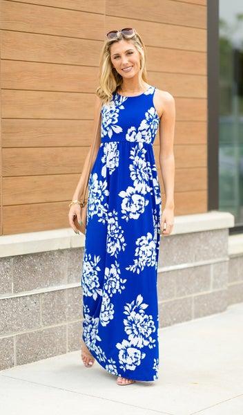 Hawaii Dream Dress, Blue