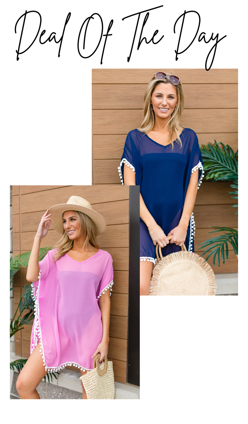 The Ultimate Beach Cover Up, Black, Light Blue, Mint, Navy, Pink or White