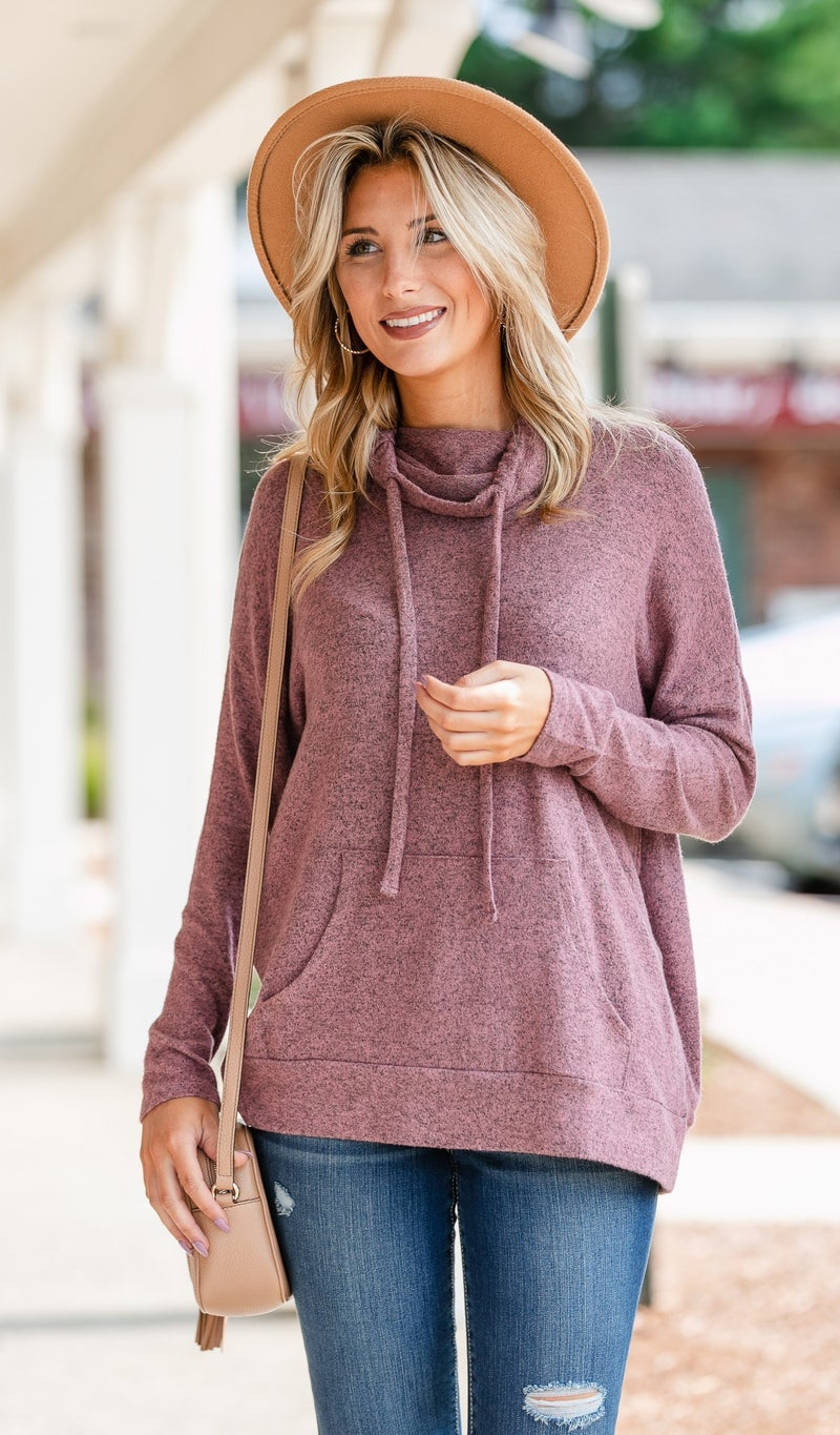 Say YES Hacci Knit Pullover, Mauve