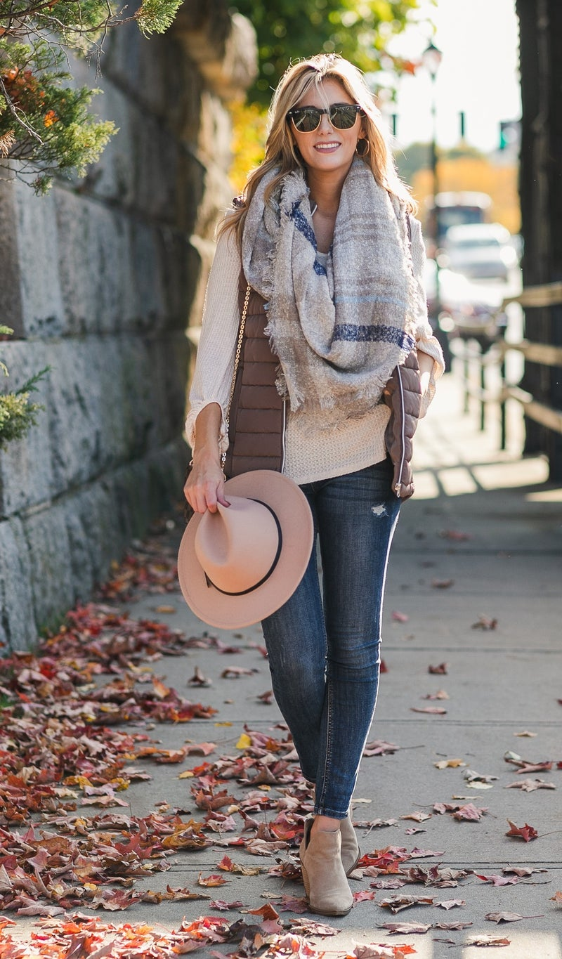 Calm And Collected Blanket Scarf, Plaid