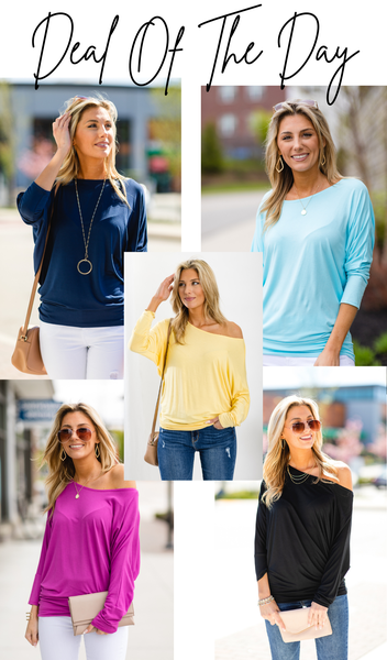 By Your Side Top, Yellow, Mint, Orchid, Black, Or Navy