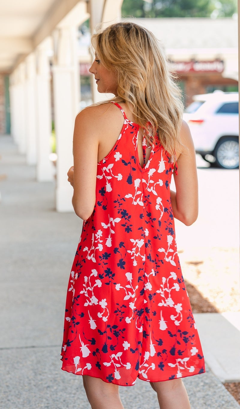 Believer Dress, Red Print