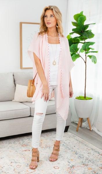 Daisy Dot  Kimono, Pink