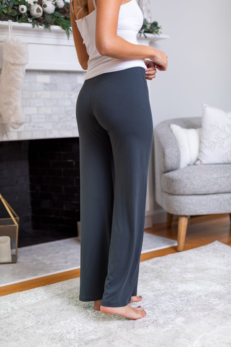 The Perfect Lounge Pants, Burgundy or Charcoal