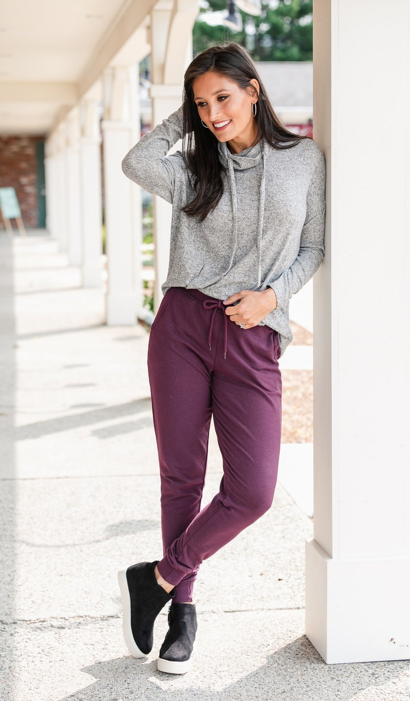 City Walk Jogger, Charcoal or Plum