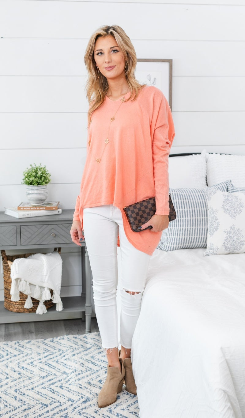 I'm What You Need Sweater, Blue or Coral