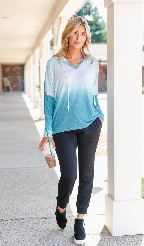 All Around Pullover, Jade Tie-Dye