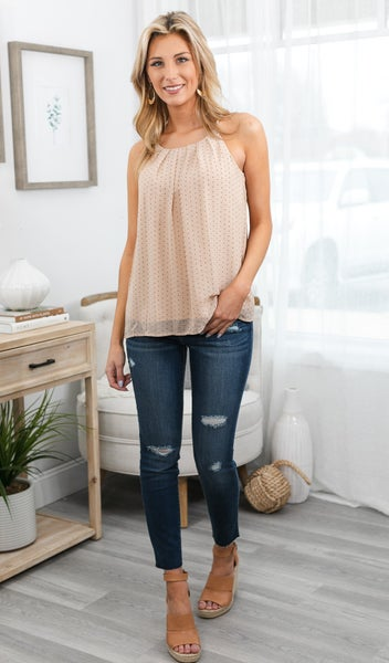 The Stella Tank, Taupe