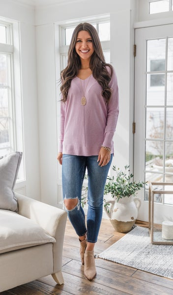 Coastal Vibes Sweater, Pink or Blue