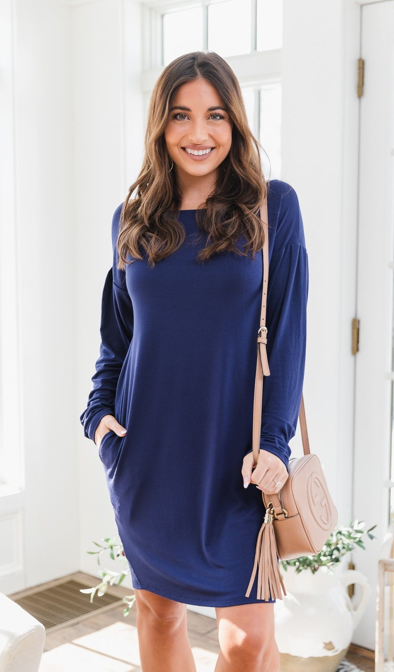 The Lucy Dress, Navy