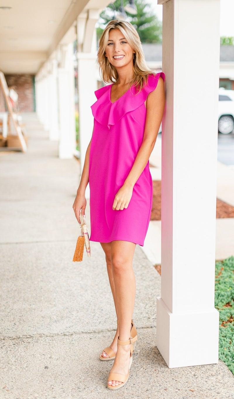River Shift Dress, Pink