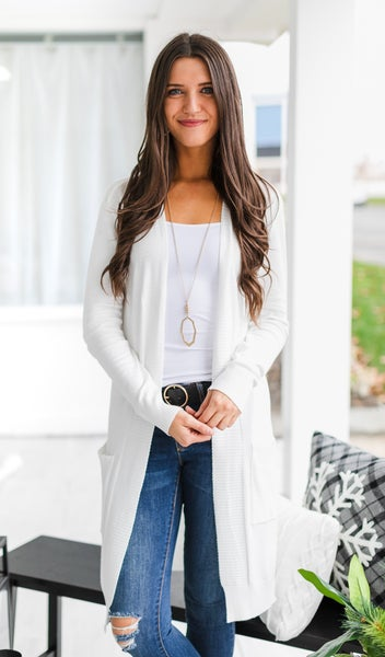 Whisper Cardigan, Ivory *Final Sale*