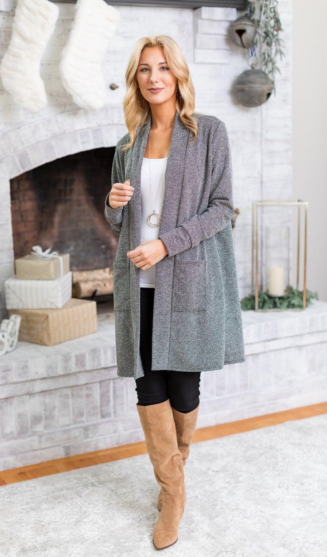 The Erica Cardigan, Marled Grey
