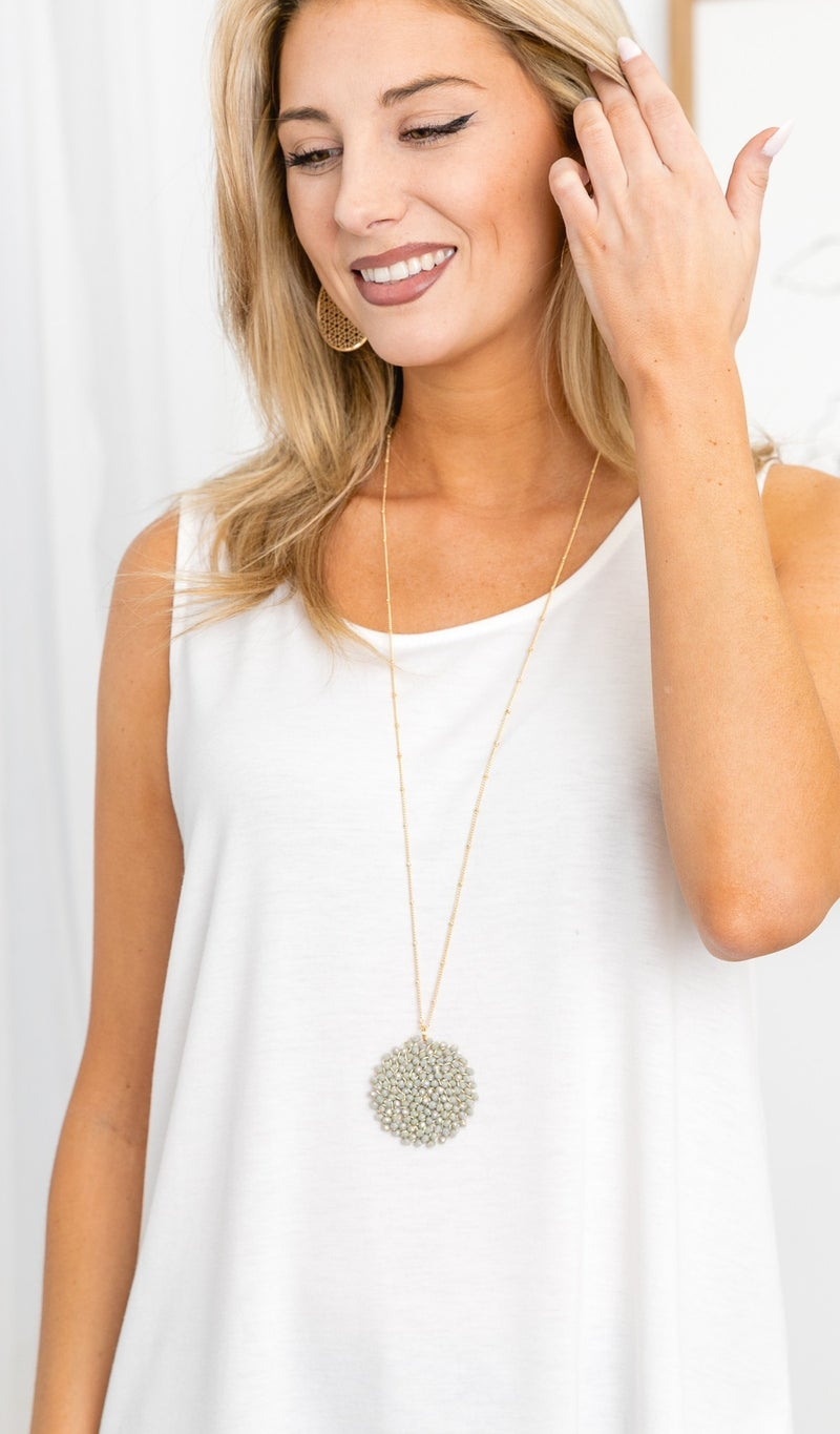 Just Because Necklace, Grey
