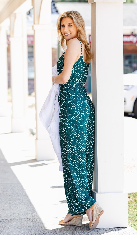 The Lottie Jumpsuit, Emerald