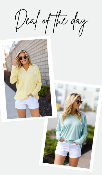 Feeling Good Pullover, Yellow Or Sage