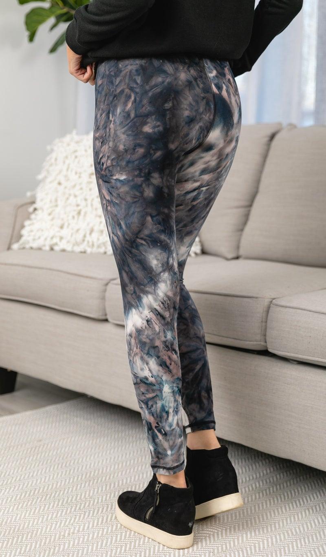 NEW Me Leggings, Tie Dye Dark Shades
