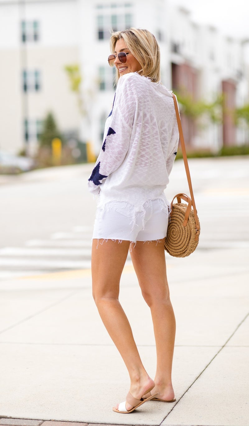Star Of The Day Sweater, White