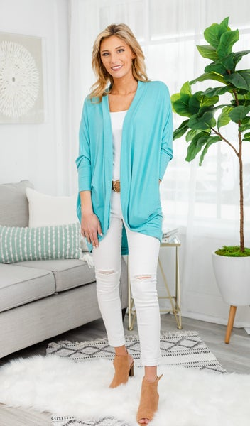 Cool Summer Nights Cardigan, Mint
