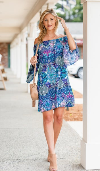 Forever Favorite Dress, Teal Multi Print