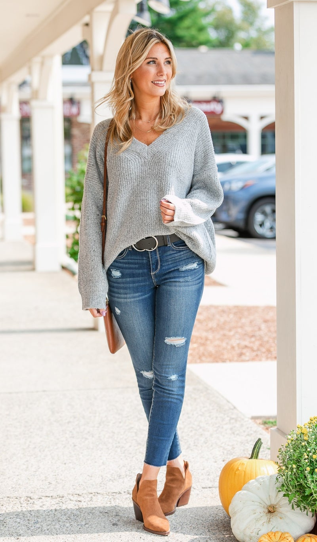 Wish you Were Here Sweater, Heathered Grey