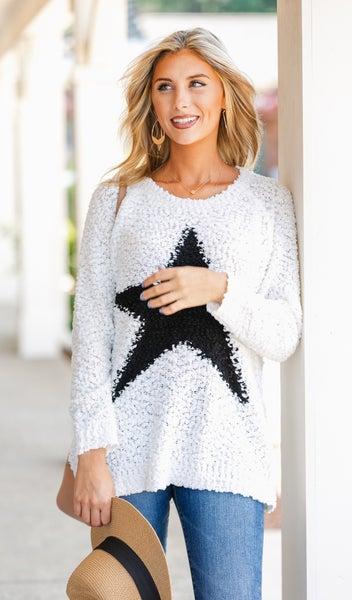 Classic Night Star Sweater, Ivory