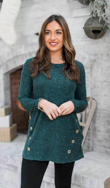 Emerson Knit Tunic, Hunter Green