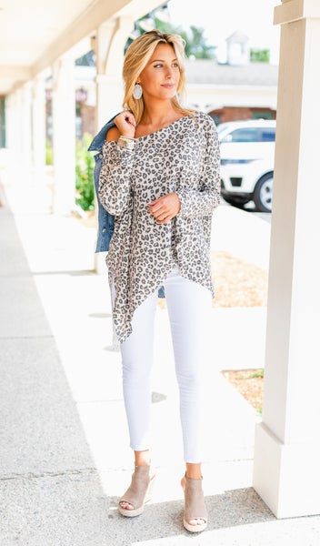 Heartbreaker Tunic, Neutral Print