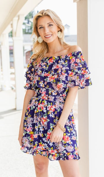 Years Of Love Dress, Navy
