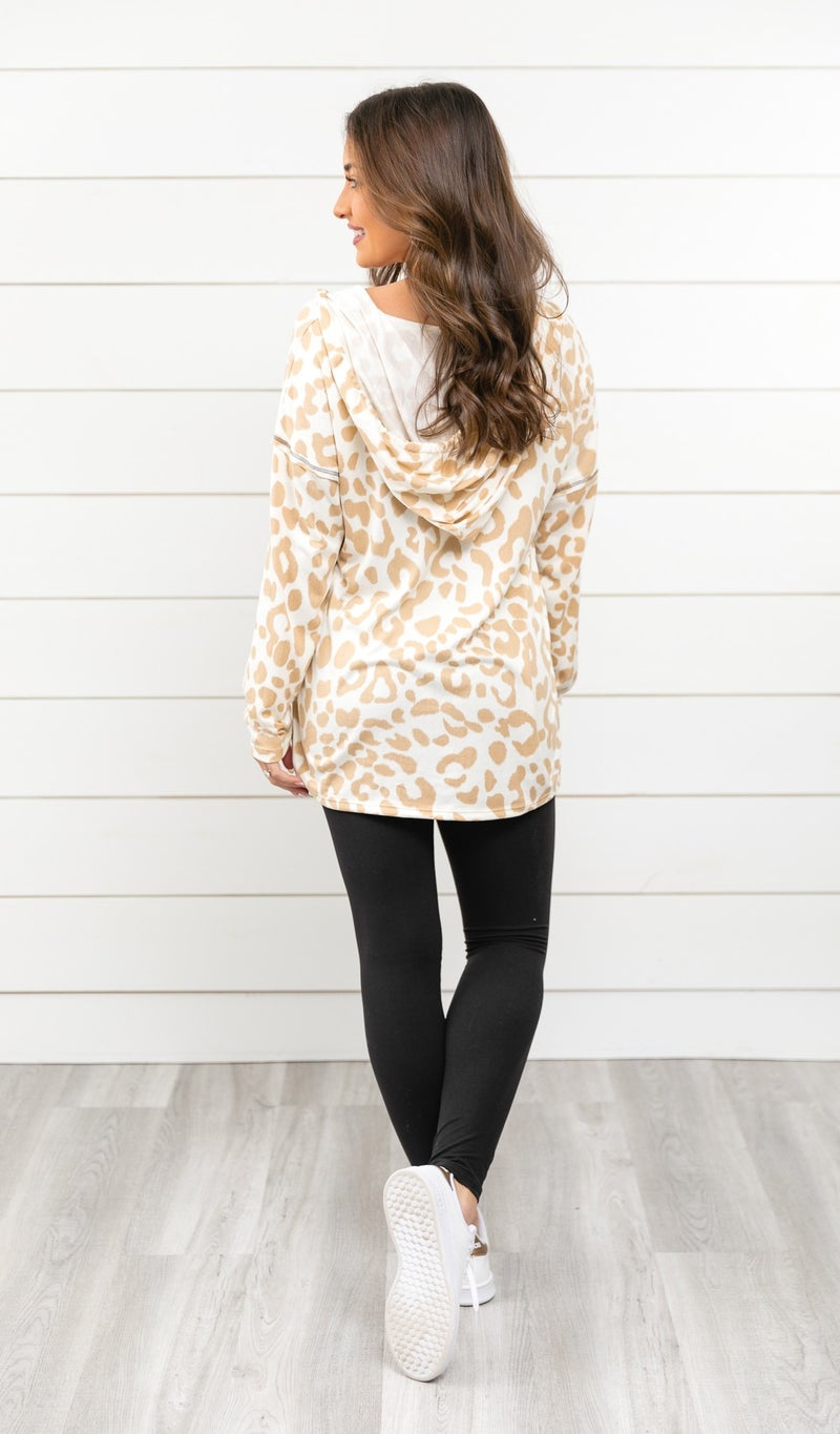 The Erica Hoodie, Taupe