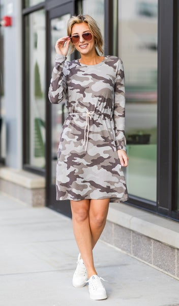 Here For You Dress, Camo