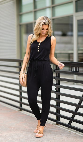 The Sporty Chic Jumpsuit, Black