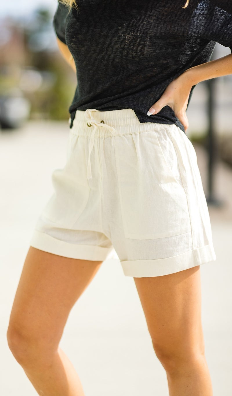 All Summer Shorts, Black, Ivory, or Khaki