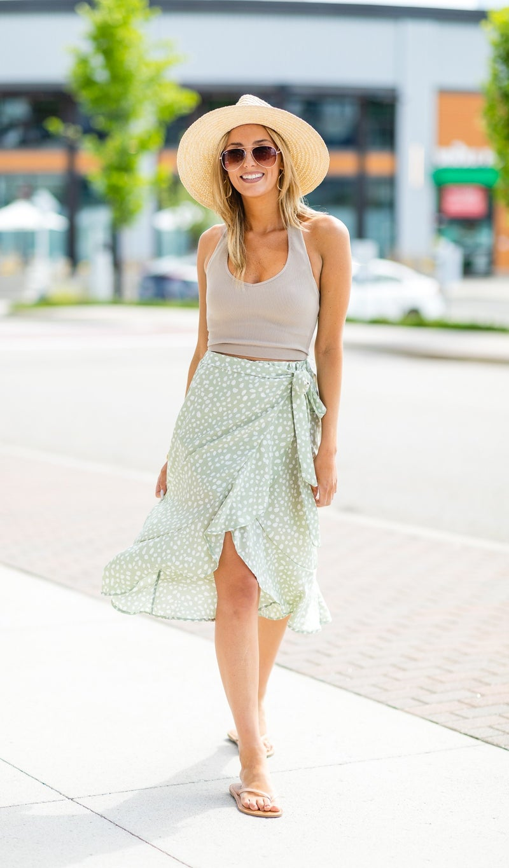 What We Love Skirt, Sage