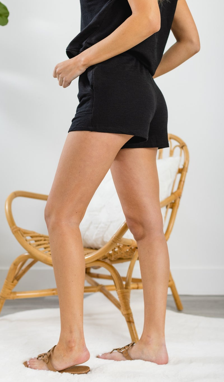 Summer Of Love Shorts, Black, Heather Grey, or Indigo