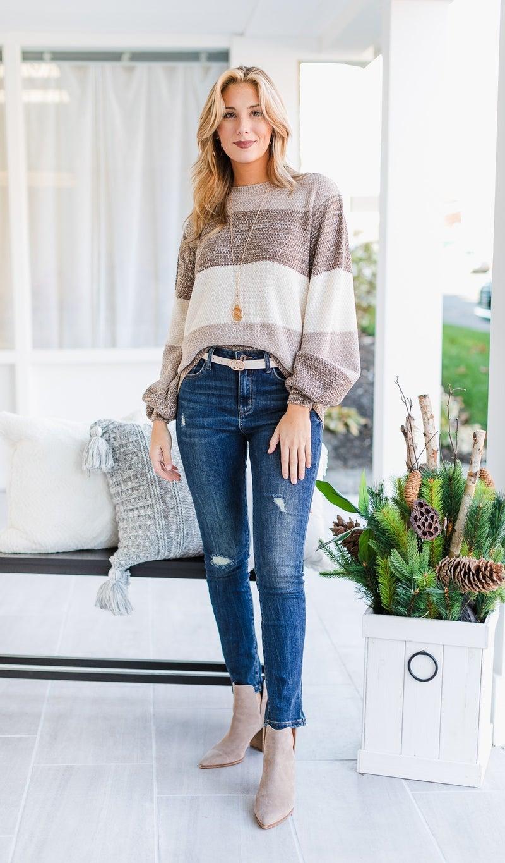 Feel The Wind Sweater, Oatmeal
