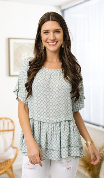 The Maeve Blouse Top, Mint