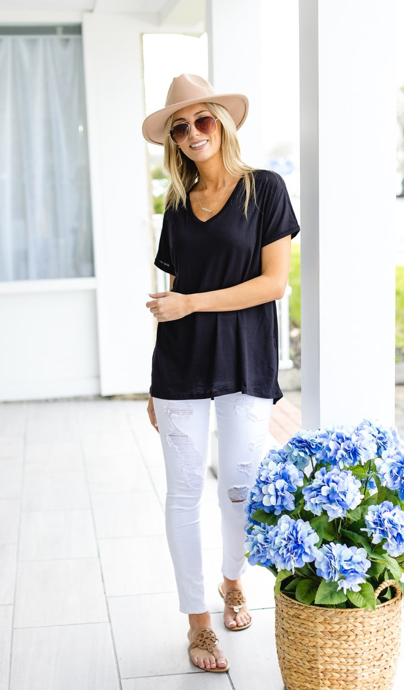 Another Beautiful Day Tee,  Sage, Ivory, or Black