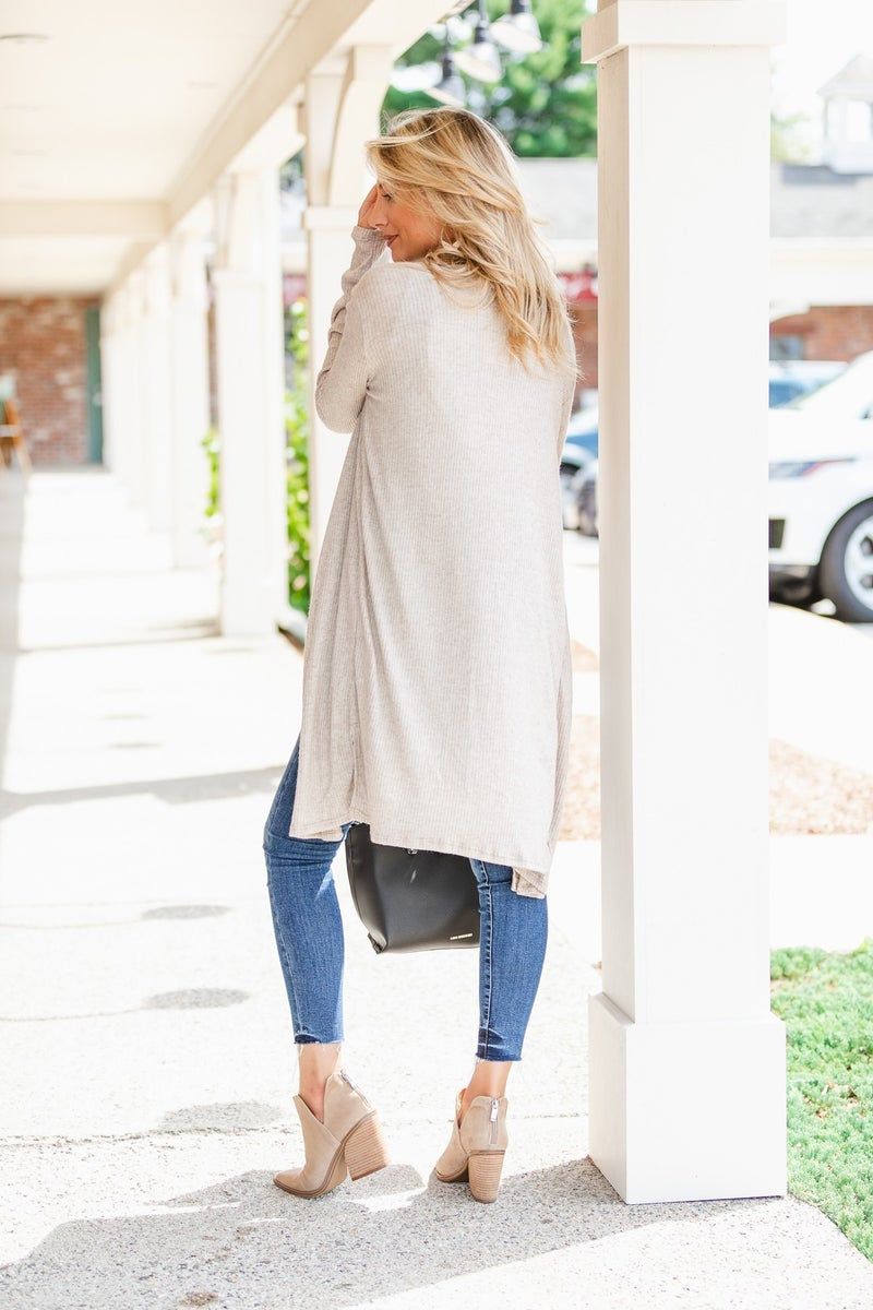 Not Your Average Duster Cardigan, Oatmeal