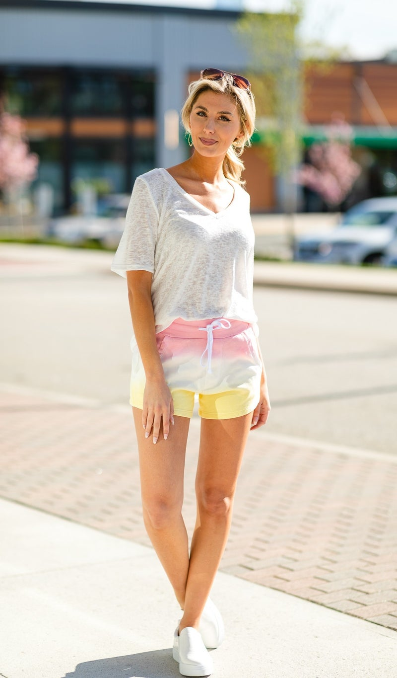 The Ultimate Tie Dye Shorts, Green Or Pink
